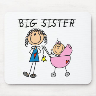 Big Sister with Little Sis Tshirts Mouse Mat