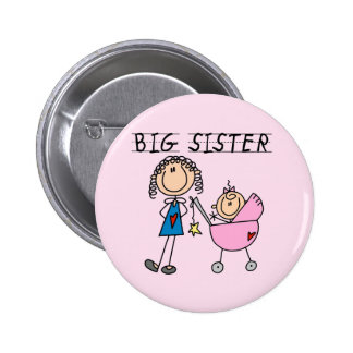 Big Sister with Little Sis Tshirts Pinback Button
