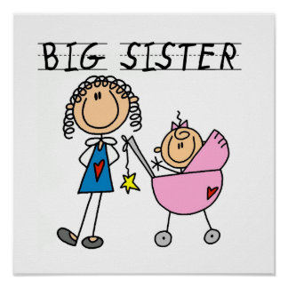 Big Sister With Little Sister Gifts Poster