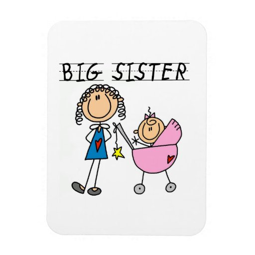 Big Sister With Little Sister Gifts Magnet
