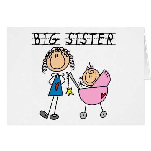 Big Sister with Little Sister T-shirts and Gifts Card