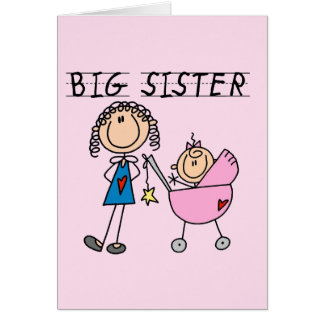 Big Sister with Little Sister T-shirts and Gifts Greeting Card
