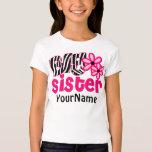 Big Sister Zebra Floral T-Shirt