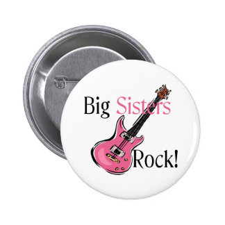 Big Sisters Rock 6 Cm Round Badge