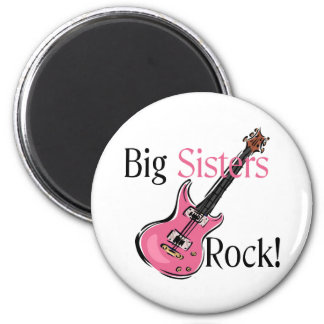 Big Sisters Rock 6 Cm Round Magnet