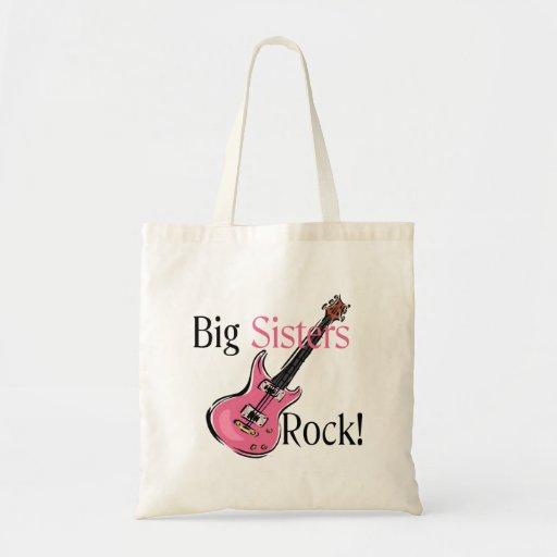 Big Sisters Rock Tote Bags
