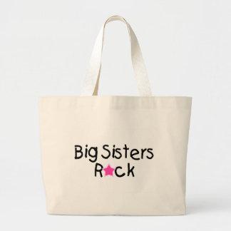 Big Sisters Rock Large Tote Bag