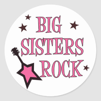 Big Sisters Rock Round Sticker