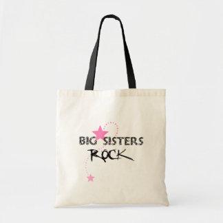 Big Sisters Rock Tote Budget Tote Bag