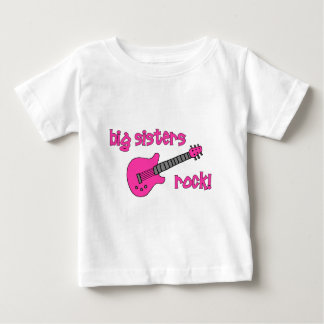 Big Sisters Rock! with Pink Guitar T Shirt