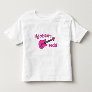 Big Sisters Rock! with Pink Guitar Toddler T-Shirt