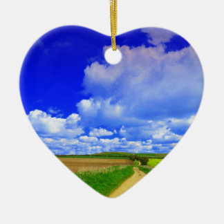 Big Skies Ceramic Heart Decoration