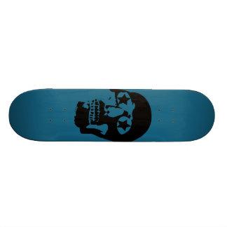 Big Skull Teal Skateboard