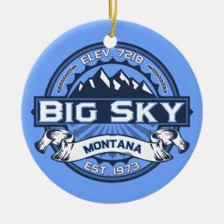 Big Sky Blue Christmas Ornament