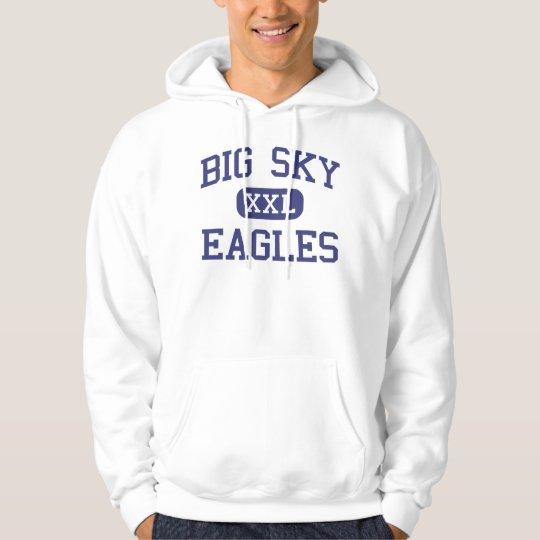 Big Sky - Eagles - High School - Missoula Montana Hoodie