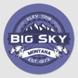 Big Sky Logo MIdnight Stickers