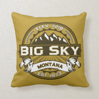 Big Sky Montana Color Pillow