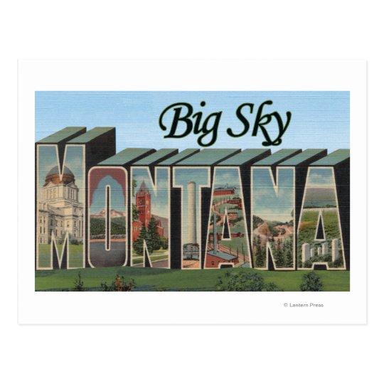 Big Sky, Montana - Large Letter Scenes Postcard