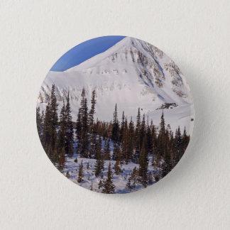 Big Sky Montana skiing and snowboarding resort 6 Cm Round Badge