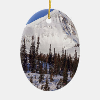Big Sky Montana skiing and snowboarding resort Christmas Ornament