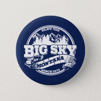 Big Sky Old Circle Blue 6 Cm Round Badge