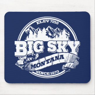 Big Sky Old Circle Blue Mouse Pad