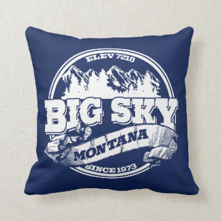 Big Sky Old Circle Blue Throw Pillow