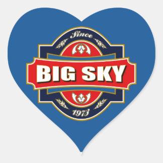 Big Sky Old Label Heart Sticker