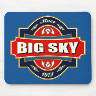 Big Sky Old Label Mouse Pad