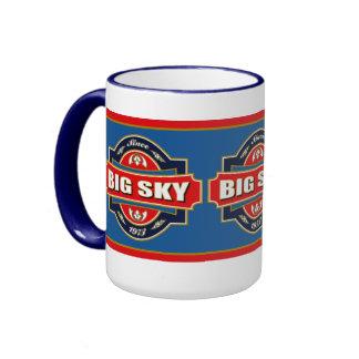Big Sky Old Label Ringer Mug