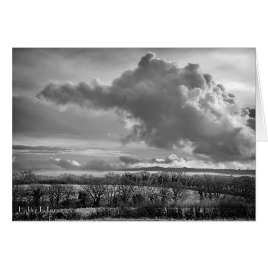 Big Sky Over Wiltshire with poem notelet/card Card