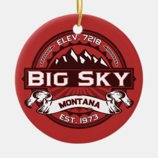 Big Sky Red Christmas Ornament