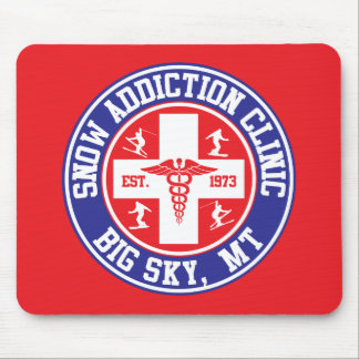 Big Sky Snow Addiction Clinic Mouse Pad