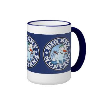 Big Sky Snowman Circle Ringer Mug