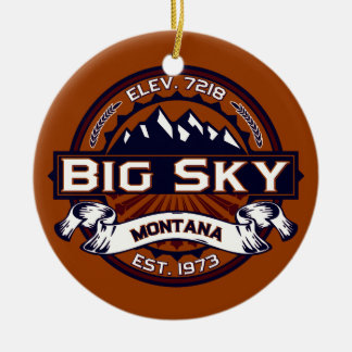 Big Sky Vibrant Christmas Ornament