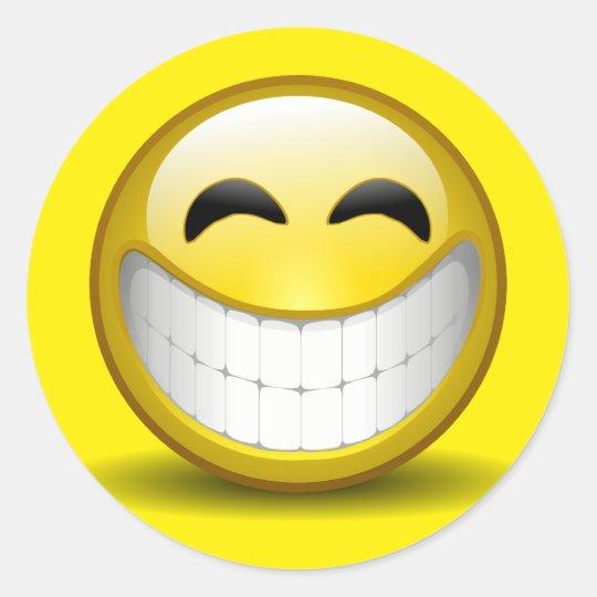 Big Smile Round Sticker