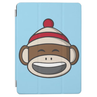 Big Smile Sock Monkey Emoji iPad Air Cover