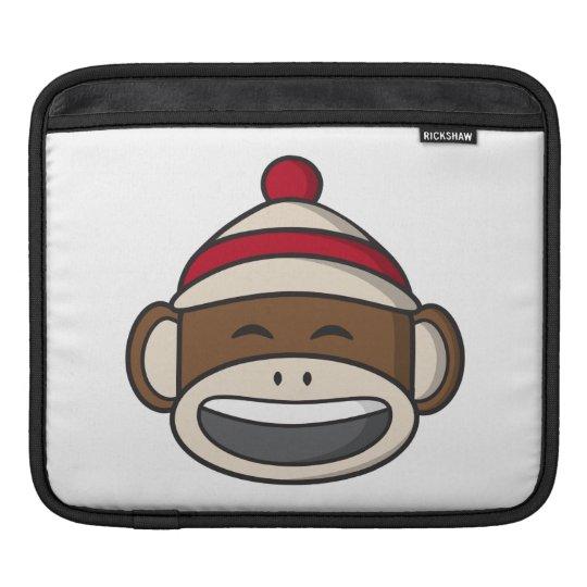 Big Smile Sock Monkey Emoji iPad Sleeve