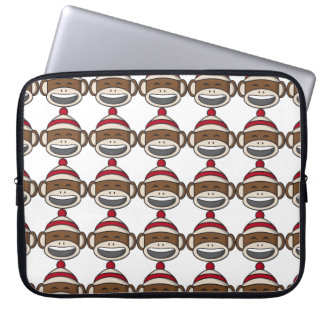 Big Smile Sock Monkey Emoji Laptop Sleeve