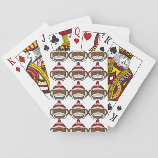 Big Smile Sock Monkey Emoji Playing Cards
