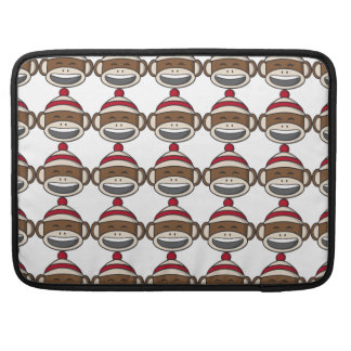 Big Smile Sock Monkey Emoji Sleeve For MacBook Pro