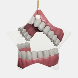 big smile teeth christmas ornament