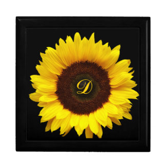 Big Smile/Yellow Sunflower Large Square Gift Box