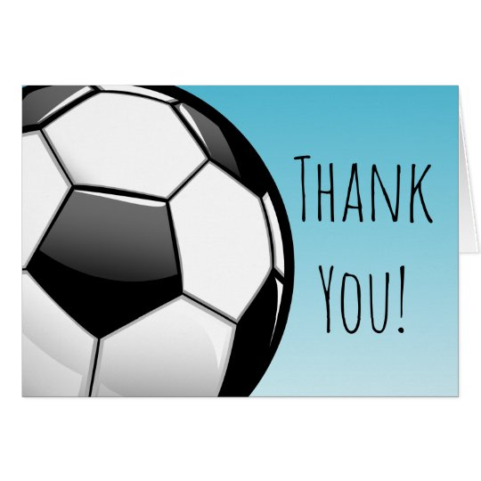 Big Soccer Ball Custom Thank You Card