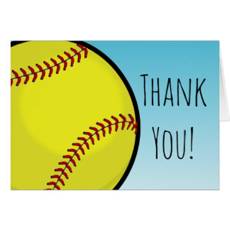 Big Softball Custom Thank You Card