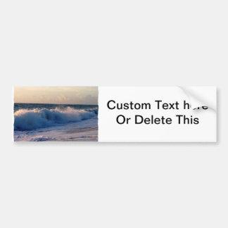 Big splashing waves sunrise Florida beach Bumper Sticker