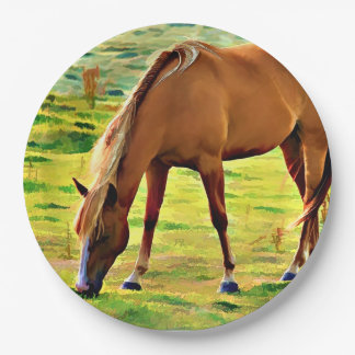 BIG SPRINGS HORSE 9 INCH PAPER PLATE