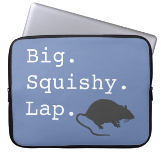 Big Squishy Lap Rat Laptop Sleeve