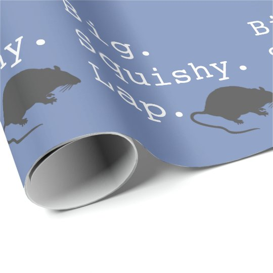 Big Squishy Lap Rat Wrapping Paper