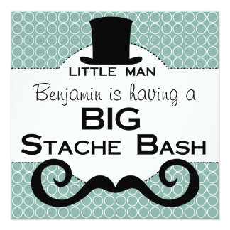 BIG Stache Bash Birthday Invitations